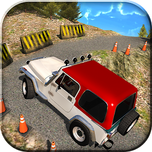 Offroad Jeep mountain climb 3d Icon