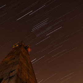 Star Trails on Raymond Tombs by Kotagauni Srinivas - Buildings & Architecture Public & Historical ( tombs, architecture )