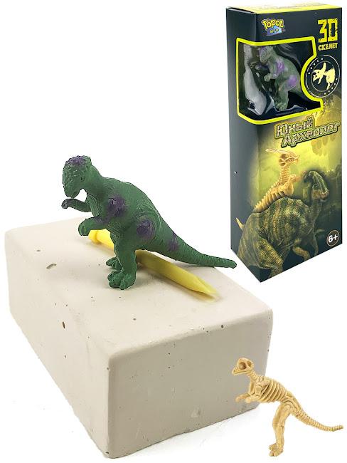 Археолог, IQ test, Мир Динозавров, раскопай скелет Пахицефалозавр   Фигурка, Собери коллекцию