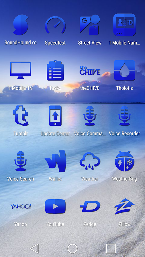 Tap Blue - Icon Pack Screenshot 5