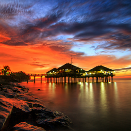 Singaraja Port by Kadek Jaya - Landscapes Sunsets & Sunrises ( building, sky, sunset, superb, brilliant )