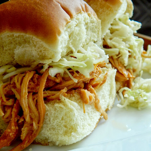 Crock Pot Beer BBQ Chicken Sandwiches
