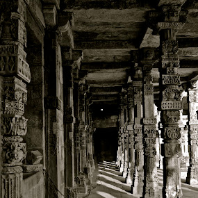The Pillars of time  by Mishesh Ramesh - Buildings & Architecture Places of Worship ( time, art, gray, culture, pillars )