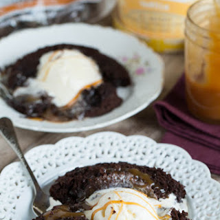 Salted Caramel Molten Lava Cakes for Two