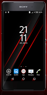 The Red Theme - screenshot