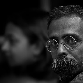 Why r u looking at me like dis .... Am I any DIFFERENT than u ?????  by Sankalan Banik - People Portraits of Men