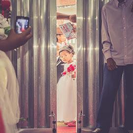The bridesmaid by Gustavo Monaretto - Wedding Other ( #child, #weddingring, #church, #girl, #wedding )