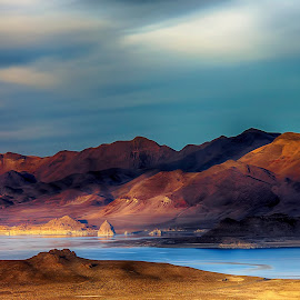 Pyramid Lake by Lee Molof - Landscapes Deserts