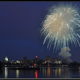 Harrisburg Pa . by Will Zook - City,  Street & Park  Night