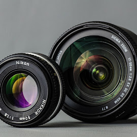 Dslr lens  by Dan Ungur - Artistic Objects Technology Objects ( nikon, sigma, presentation, digital, analog, 50mm, coating, dslr, lens, camera )