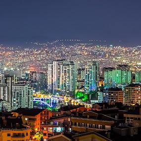 Ankara-Dikmen by Ahmet Çamaltı - City,  Street & Park  Street Scenes ( lights, dikmen, ankara, nights, şehir, işıklar, city, gece )