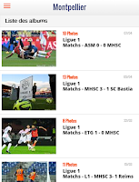 Screenshot of Foot Montpellier