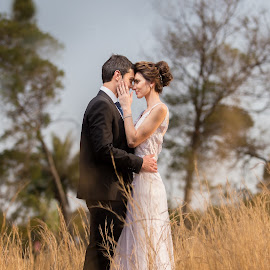 Time Alone by Lodewyk W Goosen (LWG Photo) - Wedding Bride & Groom ( wedding photography, wedding photographers, grass, brides, bride and groom wedding day, sun, love, field, wedding day, wedding, weddings, lovely, couple, wedding photographer, bride, groom, bride groom )