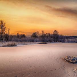 Ice. by Micke Lindblå - Landscapes Prairies, Meadows & Fields
