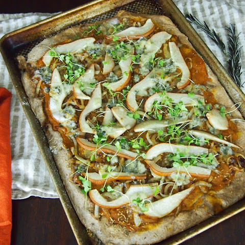 Pumpkin, Pear and Gorgonzola Flatbread