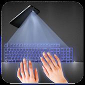 Hologram 3D Keyboard Sim Joke for Lollipop - Android 5.0