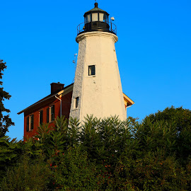 Lake Ontario Lighthouse #10 by Cal Brown - Buildings & Architecture Public & Historical ( lake ontario, great lake, lighthouse, buildings, new york, architecture, public, historic )