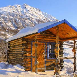 Cabin In The Mountains by Patricia Phillips - Buildings & Architecture Other Exteriors ( cabins alaska mountains )