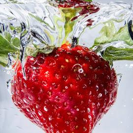 Strawberry splash by Paul Morley - Food & Drink Fruits & Vegetables