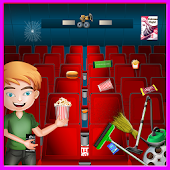 Download Cinema Cleanup Movie Night Party - Cleaning Game APK