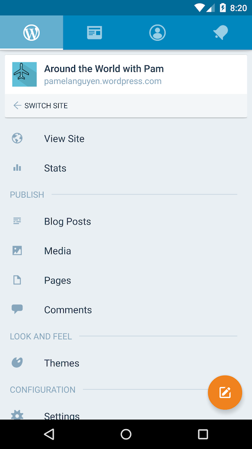 WordPress Screenshot 0