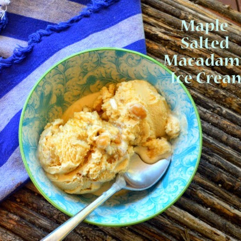 Maple Salted Macadamia Ice Cream
