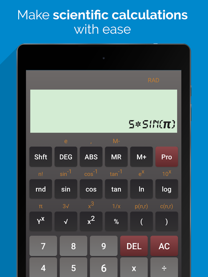 Scientific Calculator Pro Screenshot 2