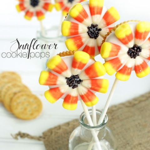 Sunflower Cookie Pops