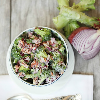 Broccoli Salad with Bacon and Cranberries #SundaySupper