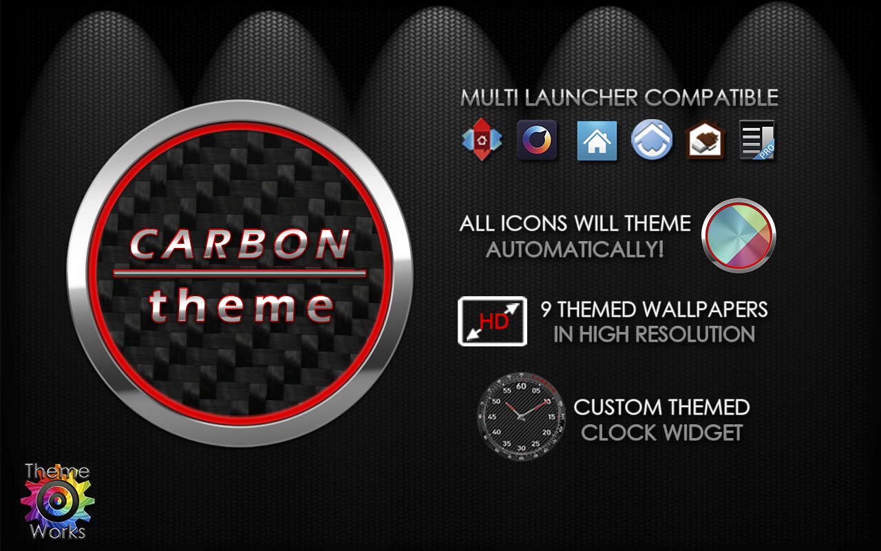Carbon Theme for Apex Nova ADW Screenshot 7