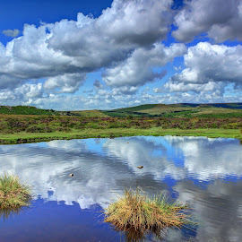 Moor reflections by Nigel Street - Landscapes Mountains & Hills