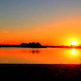 Beautiful Sunset at Shelby Farms Park by Billy Morris - Landscapes Sunsets & Sunrises