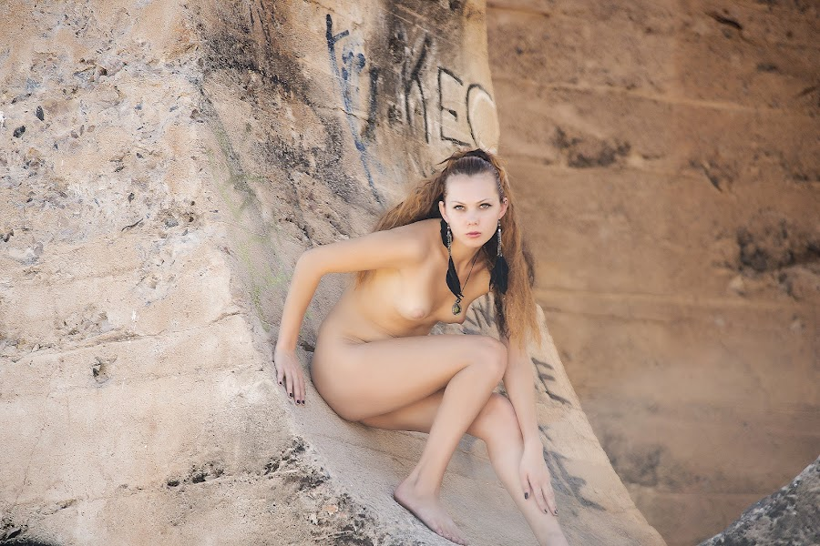 Ready to Prance by Kens Yeaglin - Nudes & Boudoir Artistic Nude ( nude, zoevandolof, sasco mine, outdoors, ruins )
