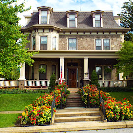 Victorian Bellefonte home by Dale Moore - Buildings & Architecture Homes ( home, mansion, victorian, historic district, pennsylvania, flowers )