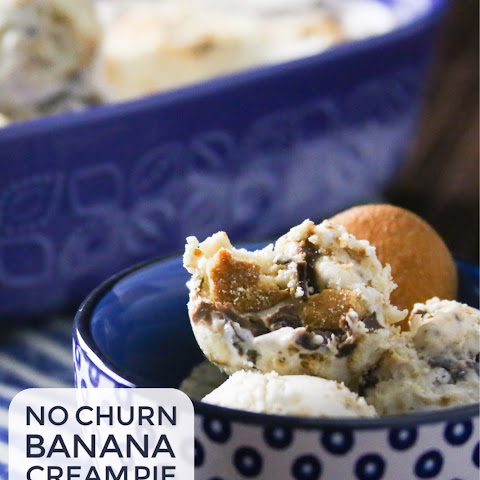 Easy No Churn Banana Cream Pie Ice Cream