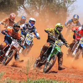 Motocross by Dirk Luus - Sports & Fitness Motorsports ( mud, motocross, motorbike, motorcycle, dirt, motorsport, riders )