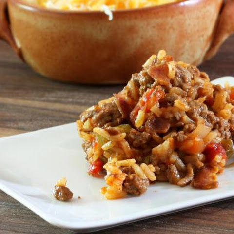 Skillet Spanish Rice With Ground Beef