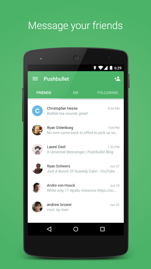 Pushbullet - SMS on PC Screenshot 3