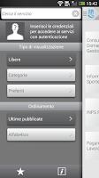 Screenshot of INPS Servizi Mobile