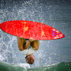 Ellen Flips by Lawayne Kimbro - Sports & Fitness Surfing ( water, sand, ©lawayne kimbro photography, surfing, simboard, ©kimbrophoto, skim usa, ocean, ©kimbro photography, beach, surf, competition, skim )