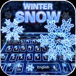 Neon Snow Keyboard Theme Icon