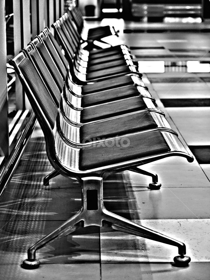 nothing here by Mohd Shahrizan Taib - Artistic Objects Furniture ( airport, kota kinabalu, chairs, black & white, sabah )