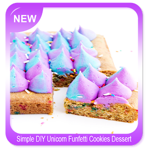 Download Simple DIY Unicorn Funfetti Cookies Dessert For PC Windows and Mac