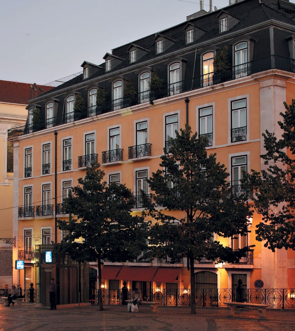 The boutique Bairo Alto Hotel overlooks the historic Camões Square