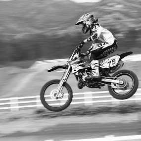 MX Grom by Scott Welch - Sports & Fitness Motorsports ( junior mx, black and white, motorcross, sports, bw, motrocross pictures, mx pics, mx pictures )