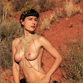 Glass Olive - Red Nymph by Fred Prose - Nudes & Boudoir Artistic Nude ( glamour, moab, nude, desert, exposed beauty imaging, glamour nude, beauty )