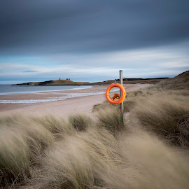 Dunstanburgh castle by Richard Armstrong - Landscapes Beaches ( lee big stopper, northumberland uk, north sea, dunstanburgh castle, beach, relax, tranquil, relaxing, tranquility )
