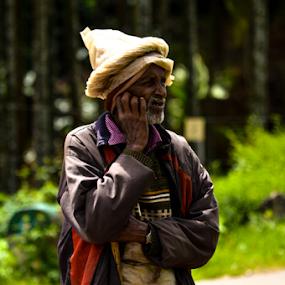 old man by Santosh Vanahalli - People Portraits of Men