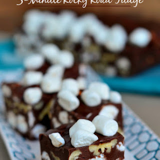 5 Minute Rocky Road Fudge