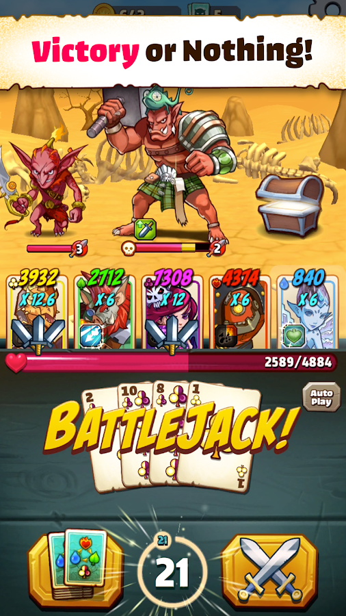Battlejack: Blackjack RPG Screenshot 0